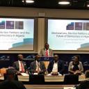 Wale Adebanwi introduces keynote by Chief Wole Olanipekun, OFR, SAN