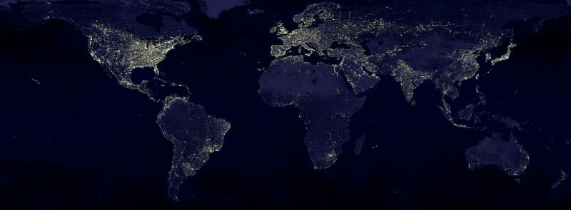 earth earth at night night lights 41949 pexels2