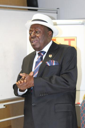 aare babalola during his lecture