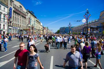 dreamstime m 9584182 st petersburg busy street