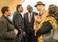 adebanwi introduces member of iab thomas svanikier to president faure