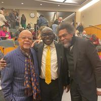after his lecture professors henry louis gates jn wale adebanwi and cornell west